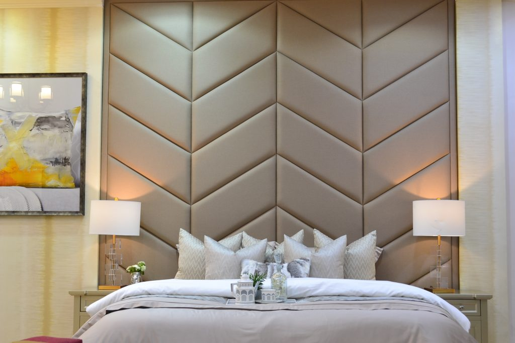 unique design of bed and headboards